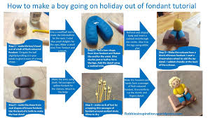 how to make a boy going on holiday out of fondant u2013 robbie u0027s