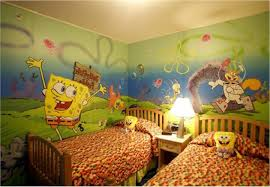 kids room bedroom funny spongebob themed bedroom decorating