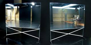 where to buy mylar buy glassless mirrors on wheels portable and rollable for