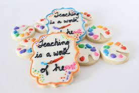 decorated cookies for end of the year teacher gifts