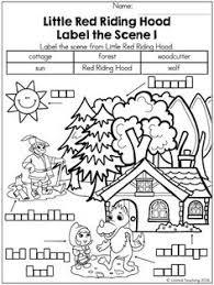 red riding hood literacy math activities blog