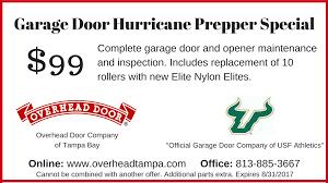 Overhead Door Maintenance by Garage Door Coupons Garage Door Specials Tampa
