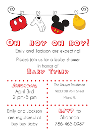 baby mickey invitations disney baby shower ideas baby ideas