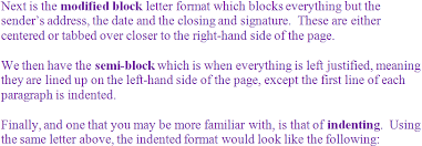 Semi Block Letter Format Business Letter Grades 6 7 And 8 English Language Middle Writing