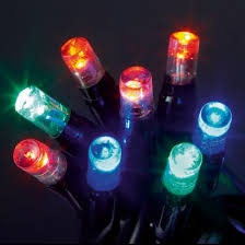 multi coloured static led connector string lights at the glow company