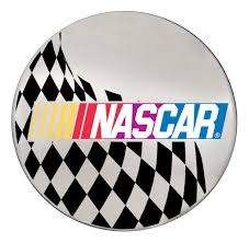 hino logo nascar logo w checkered flag on chrome steering creations inc