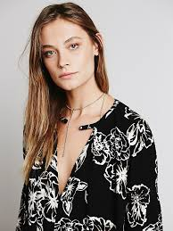 free people womens floral foil print swing tunic in black lyst
