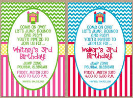 18 best bounce house birthday invitations images on