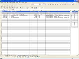 Personal Expense Spreadsheet Personal Income And Expenses Spreadsheet