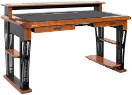 premium wood desktop riser shelf full caretta workspace