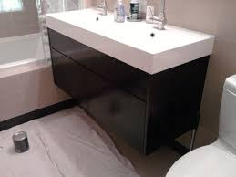 100 trough sink vanity with two faucets small bathroom with