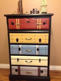 t hone bureau bureau with drawers painted to look like vintage luggage homebnc