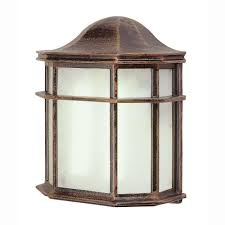 wall mounted lantern lights 1 light outdoor rust patio wall lantern with frosted acrylic patio