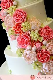 Hydrangea Wedding Roses U0026 Hydrangeas Wedding Cake Spring Wedding Cakes