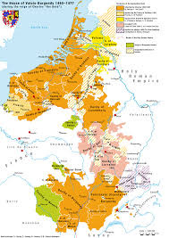 Late Medieval Europe Map territories of the house of valois burgundy during the reign of