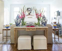 Gold Sofa Living Room Gold Sofa Table With White Marble Top And Blue Jars