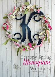 m is for monogram scrappy wreath onekriegerchick
