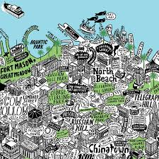 San Francisco City Map by Mind Blowingly Detailed Hand Drawn Map Of Sf U2013 The Bold Italic