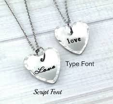 name tag necklace pewter name tag and heart necklace at sweet blossom gifts