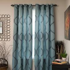 Curtain Panels Amazon Com Lavish Home Metallic Grommet Curtain Panels 84 Inch