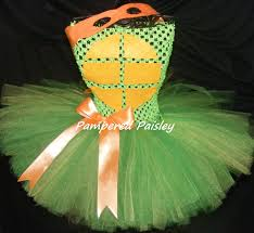 Teenage Mutant Ninja Turtles Halloween Costumes Girls Teenage Mutant Ninja Turtles Inspired Michelangelo Tutu Dress