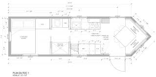 Floor Plan Of A House With Dimensions Tiny House Lumbec Le Projet 2015