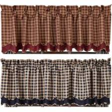 Burgundy Valances For Windows Primitive Curtains And Country Valances For Country Home Decorating