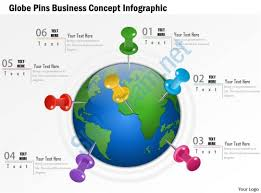 0914 business plan globe pins business concept infographic graphic