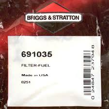 fuel filter briggs u0026 stratton 691035 new small engine repair