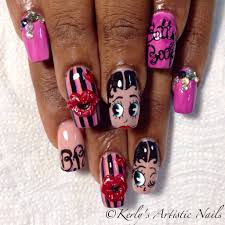 betty boop song and nail art display youtube nails pinterest