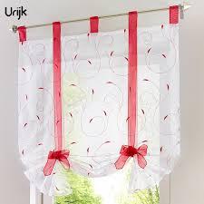 rideau pour cuisine urijk 1 pc rideaux pastorale style fenêtre décoration rideaux