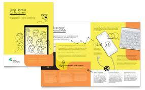 social media consultant brochure template word u0026 publisher