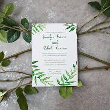 wedding invitations 1 greenery botanical wreath watercolor wedding