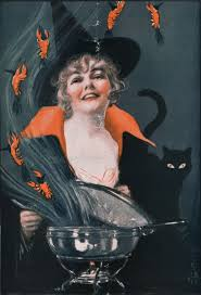 311 best vintage witch images on pinterest halloween witches