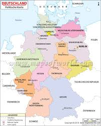 Maps Germany by Political Map Of Germany In German Language Landkarte