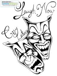 cry now laugh later by brokentear image tattooing designs
