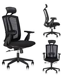 amazon com dr office high back ergonomic chair with headrest and