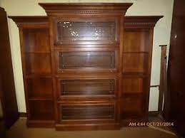 hooker furniture leaded glass barrister bookcase wall unit ebay