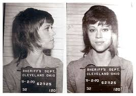 photos of jane fonda s klute hairdo jane fonda 11 70 mug shot the smoking gun