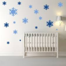 kids wall stickers iconwallstickers co uk snowflakes christmas creative multipack wall stickers seasonal decor art decals