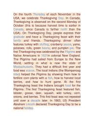 thanksgiving cloze answers