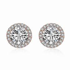 stud earrings for women 10pair hot zirconia diamond stud earrings women white gold