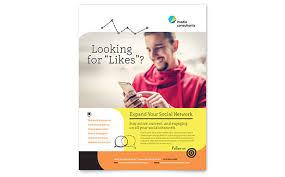 social media brochure template social media consultant brochure template design