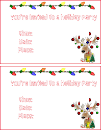 cards free christmas party invitations with pink fonts colors for