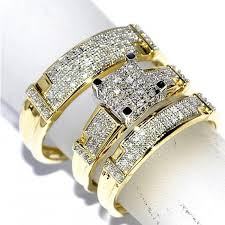 real diamonds rings images Trio wedding rings set his and her rings set real diamond rings jpg