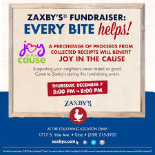 zaxby s joy in the cause zaxby s fundraiser for jitc joy in the cause