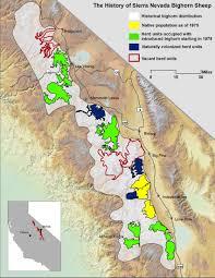 Sierra Nevada Mountains Map Maps And Locations Sierra Nevada Bighorn Sheep California