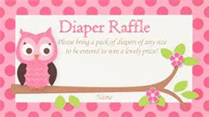 raffle baby shower pink owl printed raffle tickets baby shower