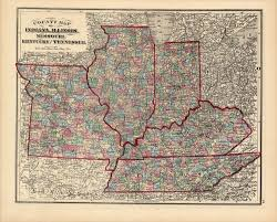 map ky and tn county map of indiana illinois missouri kentucky and tennessee