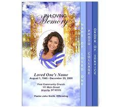 free funeral programs free memorial templates free funeral program templates funeral